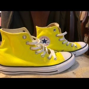 yellow converse high tops